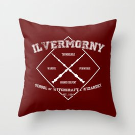 Ilvermorny School of Witchcraft & Wizardry Throw Pillow