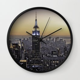 NYC City Scape - New York Photography Wall Clock