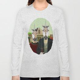 American Gothic Unicorn Long Sleeve T-shirt