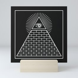 The Eye of Providence Pyramid Mini Art Print