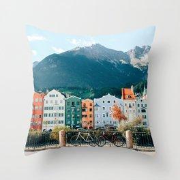 Crayola Houses | Innsbruck, Austria Throw Pillow