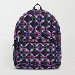 Retro Box Pattern Backpack