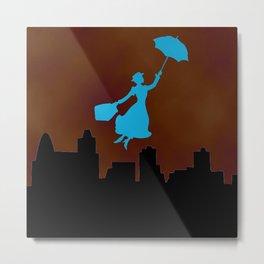 Firey Miss Poppins  Metal Print