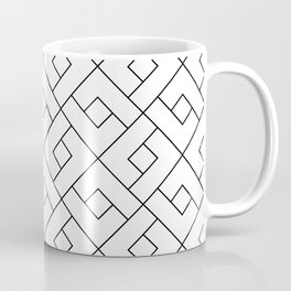 Emilia - Black and White Pattern Coffee Mug