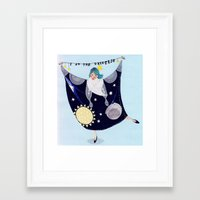 universe Framed Art Prints featuring Universe by Bex Bourne