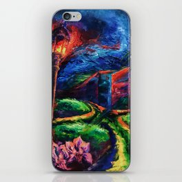 """The Crossroad"" Painting iPhone Skin"