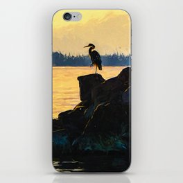 Sunset Heron iPhone Skin