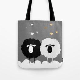 Ying Yang Sheep Tote Bag