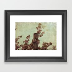 Faded Blossoms Framed Art Print