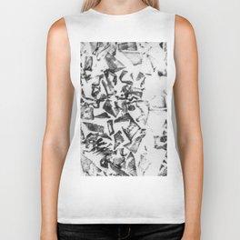 Abstract black white geometric paper triangles pattern Biker Tank