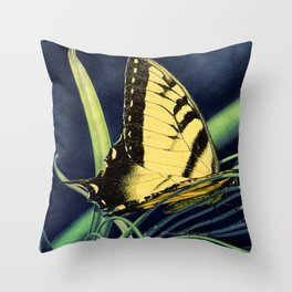 Yellow Tiger Swallowtail Butterfly A125 Throw Pillow
