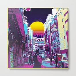 Neon Akiba Metal Print