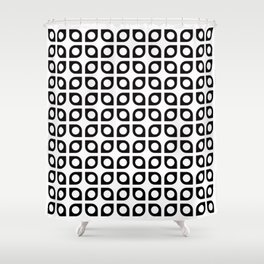 Geometric Pattern #37 (curves circles) Shower Curtain