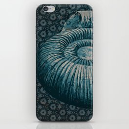 Ammonite on pattern 2201 iPhone Skin