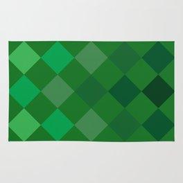 Green Argyle Pattern Rug