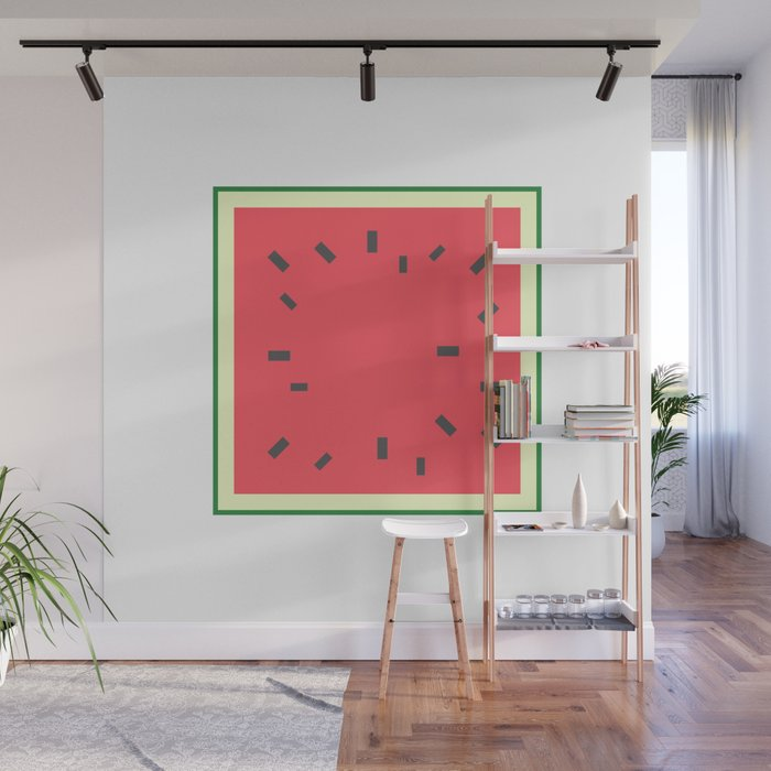 Square Fruit - Watermelon Wall Mural