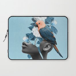 Girl with parrot Laptop Sleeve