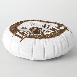 Latte Larry's Floor Pillow
