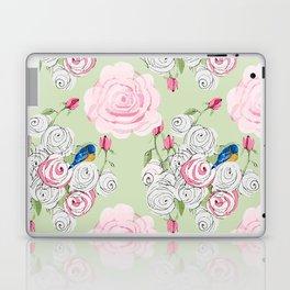 Shabby Chic Bluebirds and Roses Laptop & iPad Skin