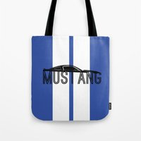 mustang Tote Bags featuring Mustang by Salmanorguk