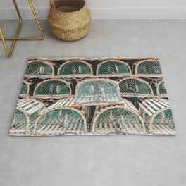 Readying for the lobster season Rug