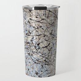 High Again - Jackson Pollock style abstract drip painting by Rasko Travel Mug