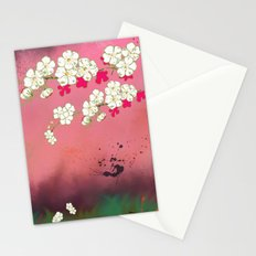 Peacock Blossoms (part 2) Cherry Blossoms Stationery Cards