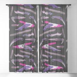 Ghost Knife fish Sheer Curtain