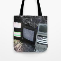 tv Tote Bags featuring Bollywood Televisions by BOLLYWOOD