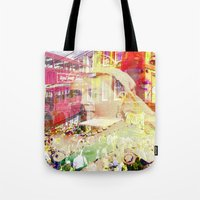 england Tote Bags featuring Old England by Ganech joe