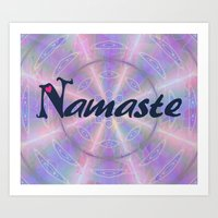 namaste Art Prints featuring Namaste by Stay Inspired