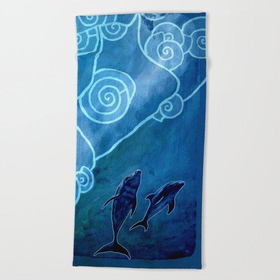 MELUSINA SEA DOLPHINS Beach Towel