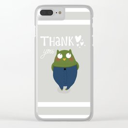 My owl wanted to thank you all for the lovely comments on his previous apperance :) Clear iPhone Case