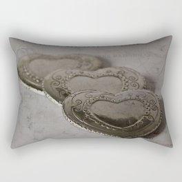 Les Trois Coeurs Rectangular Pillow