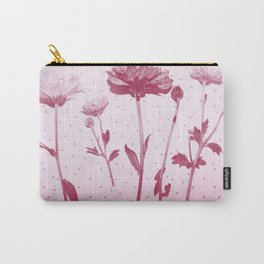 Flowers and polka dots 2 Carry-All Pouch
