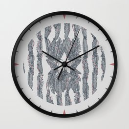 America Feather Flag Wall Clock