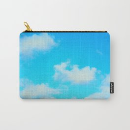 White Clouds Bright Blue Sky Carry-All Pouch