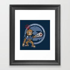 Automated Laser Monkey Framed Art Print