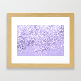 Lavender Glitter Dream #1 #shiny #decor #art #society6 Framed Art Print