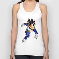vegeta Tank Tops featuring vegeta bubbles by codradical