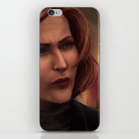 dana scully iPhone & iPod Skins featuring Special Agent Dana Scully by Celina Hulshof