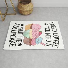 Cupcake Shut Up Coffee sarcasm funny gift Rug