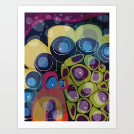 Biological Abstracts Art Print