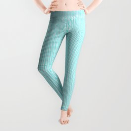 Wire Globe Full Blue White Background Leggings