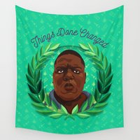 biggie Wall Tapestries featuring NOTORIOUS by badOdds
