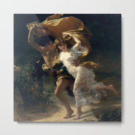 The Storm By Pierre Auguste Cot Metal Print