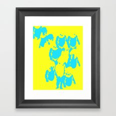 Valitas yellow Framed Art Print