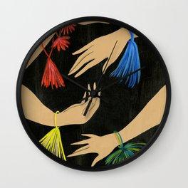 Tasseled Hands Wall Clock