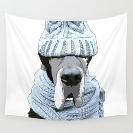 Great Dane Winter is Here Wall Tapestry