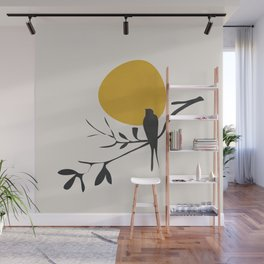 Bird and the Setting Sun Wall Mural